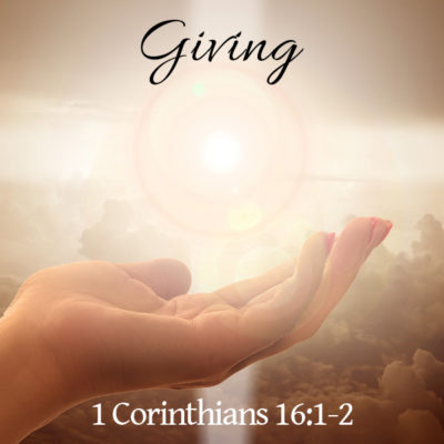 Giving, Conway Church of Christ in SC